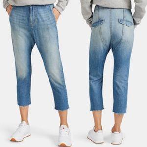 Nili Lotan Paris Drop-Rise Tapered Jeans 26